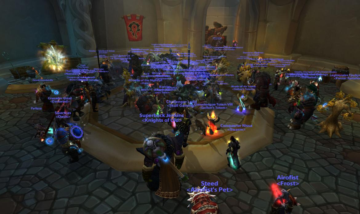 The Horde waiting for the battle of Wintergrasp