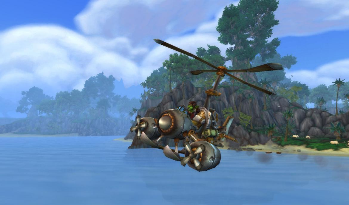 Goblin in a flying machine