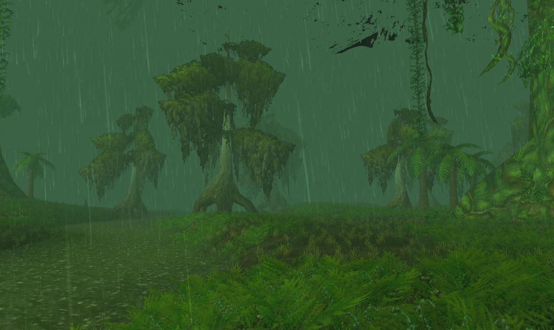 Rain in Un'Goro Crater