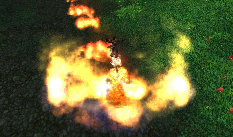 Goblin floating using rocket boots