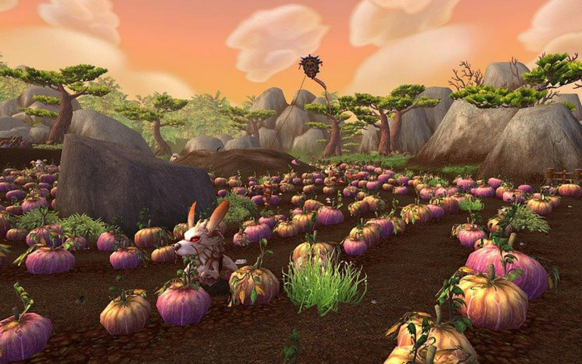 Mists of Pandaria -- Verming in a farmers field