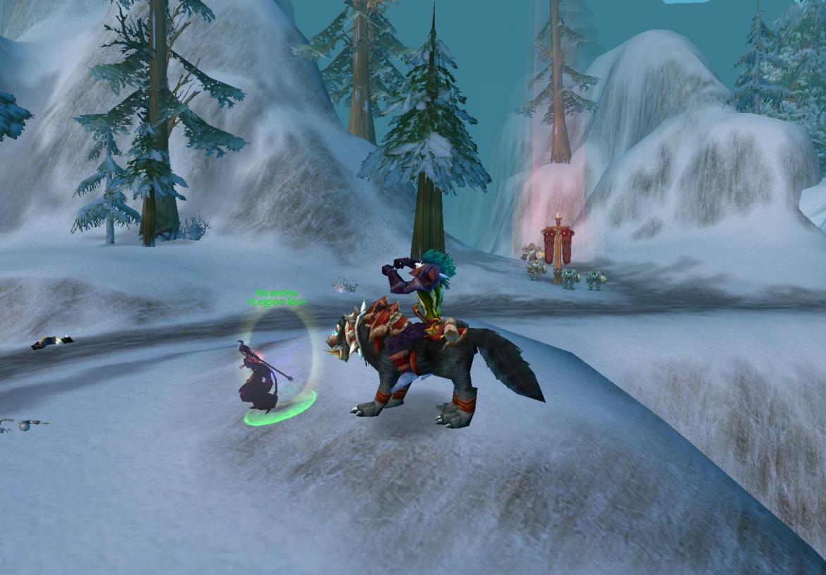 Troll on Wolf mount cheering