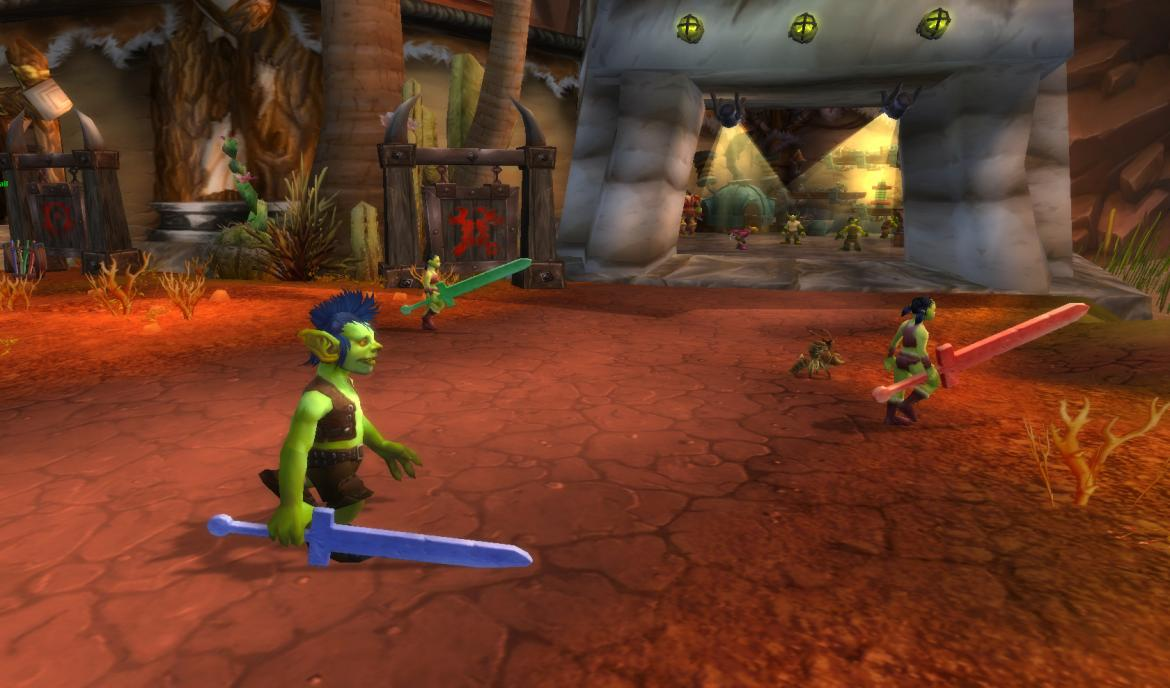 Orgrimmar orphans with foam swords