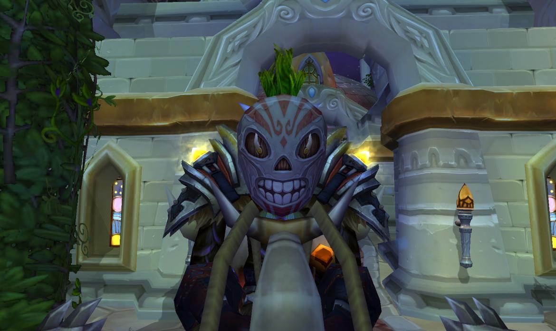 Whimsical Skull Mask