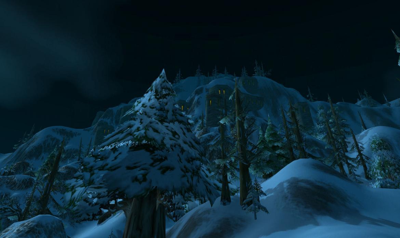 Dwarfen buildings on a mountain side